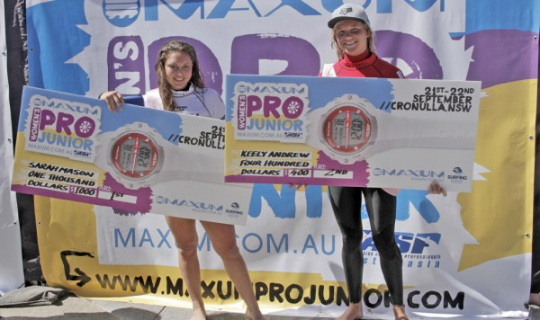 Live Webcast for the ASP Maxum Women's Pro Junior