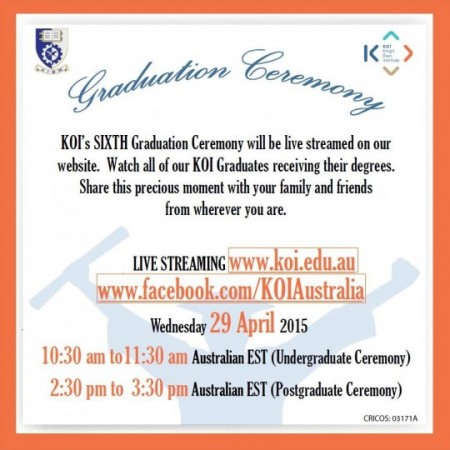 KOI Live Stream notice for event